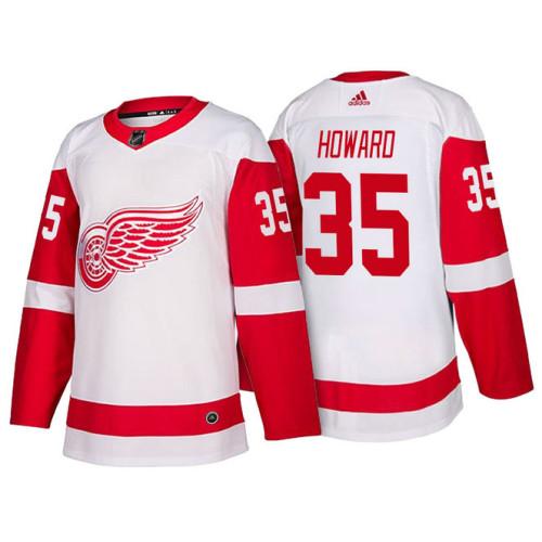 hot sale online c3a1c e0a85 Detroit Red Wings #35 Jimmy Howard White 2018 Season New ...