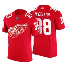 Detroit Red Wings #38 Tom McCollum Red Adidas Player T-shirt
