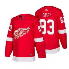 Detroit Red Wings #83 Trevor Daley Red 2018 New Season Player Home Jersey