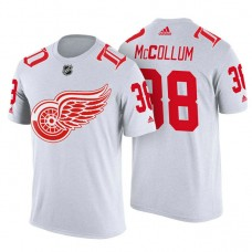 Detroit Red Wings #38 Tom McCollum White Adidas Player T-shirt