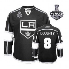 Youth Los Angeles Kings Drew Doughty #8 Black 2014 Stanley Cup Home Jersey