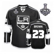 Youth Los Angeles Kings Dustin Brown #23 Black 2014 Stanley Cup Home Jersey