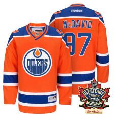 Edmonton Oilers Connor McDavid #97 Orange 2016 Heritage Classic Alternate Premier Jersey