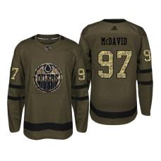 Edmonton Oilers #97 Connor McDavid Camo Salute To Service Jersey