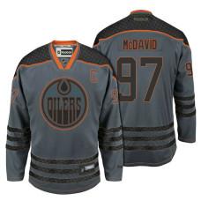 Edmonton Oilers #97 Connor McDavid Storm Cross Check Fashion Jersey