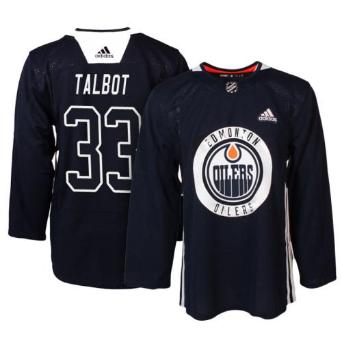 Edmonton Oilers  33 Navy New Season Practice Cam Talbot Jersey 6f2a2227fb1