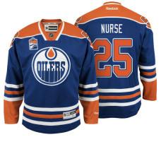 Edmonton Oilers Darnell Nurse #25 Navy Home Premier Jersey
