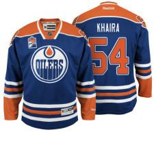 Edmonton Oilers Jujhar Khaira #54 Navy Home Premier Jersey