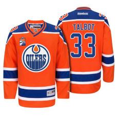 cheap for discount 097e4 d9638 Cam Talbot Edmonton Oilers #33 Orange 2018 New Season Team ...