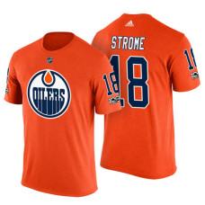 Edmonton Oilers #18 Ryan Strome Orange Adidas Player T-shirt