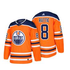 Edmonton Oilers #8 Ty Rattie Orange 2018 New Season Player Home Jersey