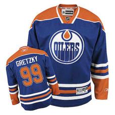 Edmonton Oilers Wayne Gretzky #99 Royal Blue Home Authentic Jersey