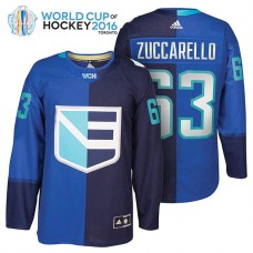 Ice Hockey Mats Zuccarello #63 Royal 2016 World Cup Premier Player Jersey