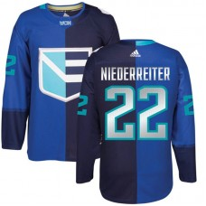 Europe Team 2016 World Cup of Hockey #22 Nino Niederreiter Blue Premier Jersey