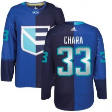 Europe Team 2016 World Cup of Hockey #33 Zdeno Chara Blue Premier Jersey
