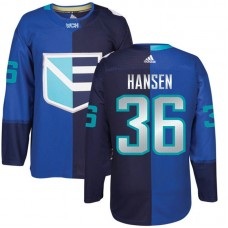 Europe Team 2016 World Cup of Hockey #36 Jannik Hansen Blue Premier Jersey