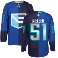 Europe Team 2016 World Cup of Hockey #51 Frans Nielsen Blue Premier Jersey