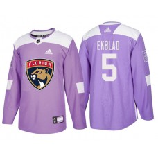 Florida Panthers #5 Aaron Ekblad Purple Hockey Fights Cancer Authentic Jersey