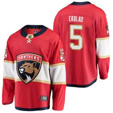 Florida Panthers #5 Breakaway Player Aaron Ekblad Jersey Red
