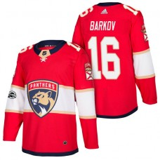 Florida Panthers #16 Aleksander Barkov Red 2018 New Season Home Authentic Jersey With Anniversary Patch