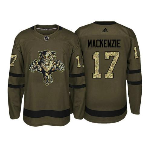 Florida Panthers  17 Derek MacKenzie Camo Salute To Service Jersey 74b5a258c