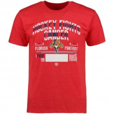 Florida Panthers Red Hockey Fights Cancer Old Time Throwback T-shirt