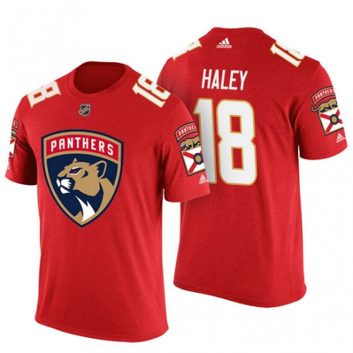 Florida Panthers #18 Micheal Haley Red Adidas Player Jersey Style T-shirt