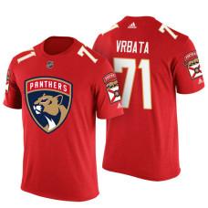 Florida Panthers #71 Radim Vrbata Red Adidas Player Jersey Style T-shirt