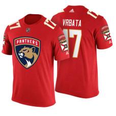 Florida Panthers #17 Radim Vrbata Red Adidas Player T-shirt