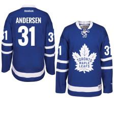 Frederik Andersen Toronto Maple Leafs #31 Royal Home Premier Jersey