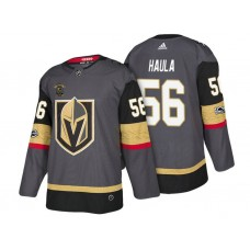 Vegas Golden Knights #56 Erik Haula Steel Gray 2018 Authentic Player Home Jersey