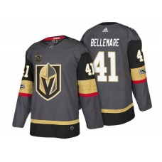 Vegas Golden Knights #41 Pierre-Edouard Bellemare Steel Gray 2018 Authentic Player Home Jersey