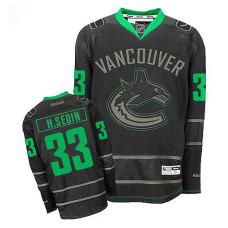 Vancouver Canucks Henrik Sedin #33 Black Premier Jersey