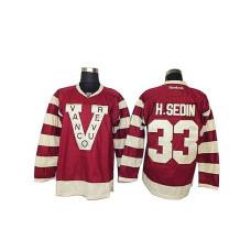Vancouver Canucks Henrik Sedin #33 Red Premier Jersey