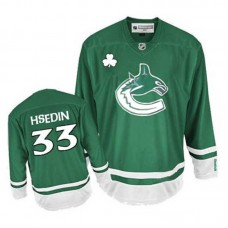 Youth Vancouver Canucks Henrik Sedin #33 Green St. Patrick's Day Jersey