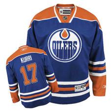 Edmonton Oilers Jari Kurri #17 Royal Blue Home Jersey