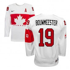 Canada Team Jay Bouwmeester #19 White Home Premier Olympic Jersey