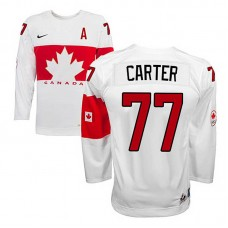 Youth Canada Team Jeff Carter #77 White Home Premier Olympic Jersey
