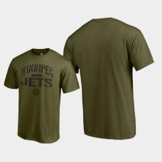 Jungle T-Shirt Green Camo Collection Winnipeg Jets