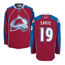 Colorado Avalanche Joe Sakic #19 Burgundy Red Home Jersey