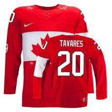 Canada Team John Tavares #20 Red Away Premier Olympic Jersey