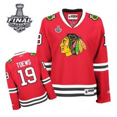 Women's Chicago Blackhawks Jonathan Toews #19 Red 2015 Stanley Cup Home Jersey