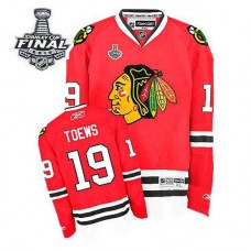 Youth Chicago Blackhawks Jonathan Toews #19 Red 2015 Stanley Cup Home Jersey