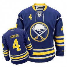 Buffalo Sabres Josh Gorges #4 Navy Blue Home Jersey