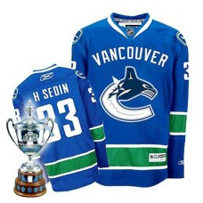 Vancouver Canucks Henrik Sedin #33 Blue Home Premier Jersey
