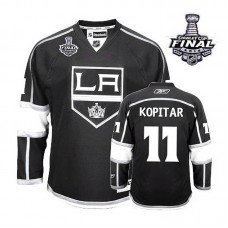 Los Angeles Kings Anze Kopitar #11 Black 2014 Stanley Cup Home Jersey