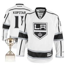 Los Angeles Kings Anze Kopitar #11 White Away Premier Jersey