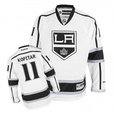 Youth Los Angeles Kings Anze Kopitar #11 White Away Jersey