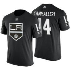 Los Angeles Kings #14 Michael Cammalleri Black Adidas Player T-shirt