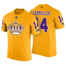 Los Angeles Kings #14 Michael Cammalleri Gold Adidas Player T-shirt